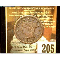 1847 U.S. Large Cent. Fine.
