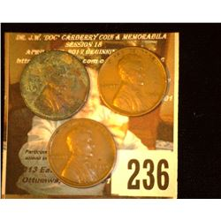 1932 D AG, 34 P Ef, & 34 D EF Lincoln Cents.
