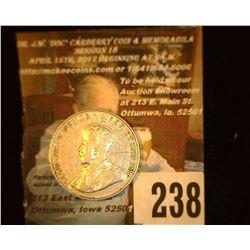1922 Canada Nickel, VF.