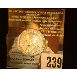 1927 Canada Nickel, EF.