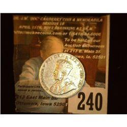 1928 Canada Nickel, VF.