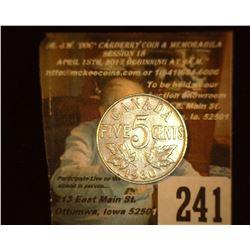 1930 Canada Nickel, VF.