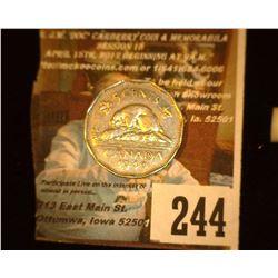 1949 Canada Nickel, AU.