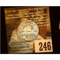 1953 Canada Nickel, AU.