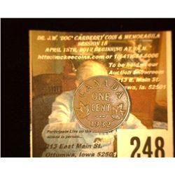 1932 Canada Cent, AU.