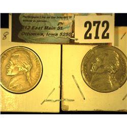 1938 P & 39 P Jefferson Nickels, EF.