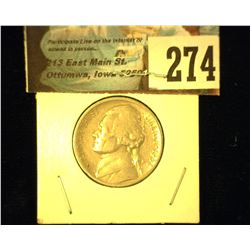 1938 S Jefferson Nickel, Fine.