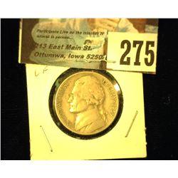 1939 D Jefferson Nickel, Very Fine.