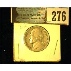 1939 S Jefferson Nickel, Very Fine.