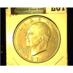 1971 D Eisenhower Dollar, Uncirculated.