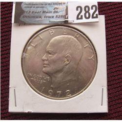 1972 P Eisenhower Dollar, Uncirculated.