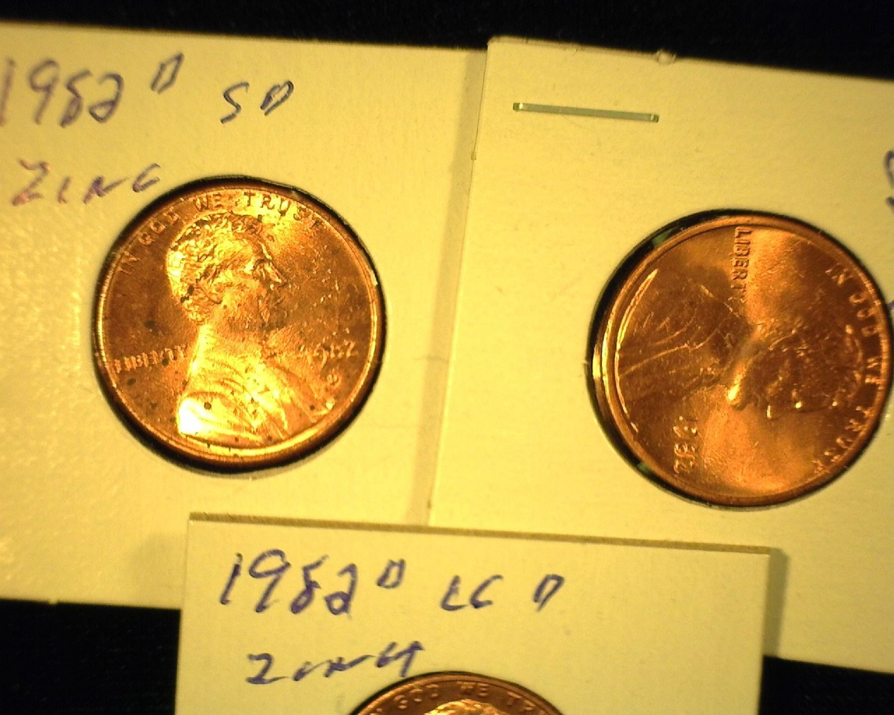 USA Small Cent Zinc 1982 D UNCIRCULATED Small Date
