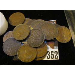 (18) 1938 Canada Cents, some nicer grades in this group.