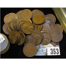 (54) San Francisco Mint U.S. Wheat Cents in a plastic tube.