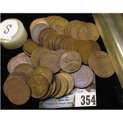 (52) San Francisco Mint U.S. Wheat Cents in a plastic tube.