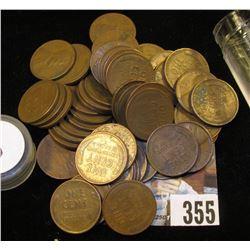 (50) San Francisco Mint U.S. Wheat Cents in a plastic tube.