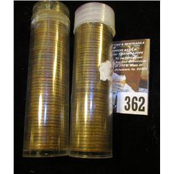 (100) San Francisco Mint U.S. Wheat Cents in a plastic tube.
