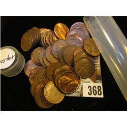(50) Old U.S. Wheat Cents, all of which exhibit some degree of luster.