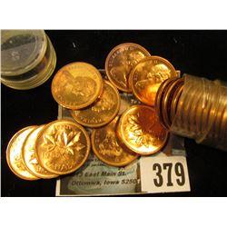 1965 Solid-date Roll of Gem BU Canada Maple Leaf Cents.