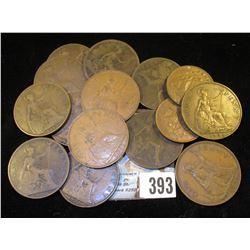 1942 & 58 Great Britain Half Pennies; 1877, 1890, 1895, 1897, 1915, 1917, 1918KN, 1920, 1922, 1936,
