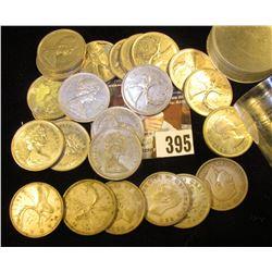 (7) Silver & (17) non-silver Canada Quarters.