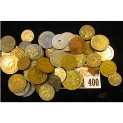 Tax Tokens, Foreign Coins including Nazi Germany, & even a Great Britain One Pound Coin. Interesting