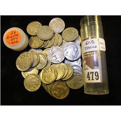 (4) Old Jefferson Nickels & (38) Old Buffalo Nickels in a plastic tube.