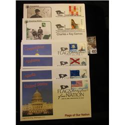 "(14) Different ""Flags of Our Nation"" & ""Charles + Ray Eames"" First Day of Issue Covers. All in super"