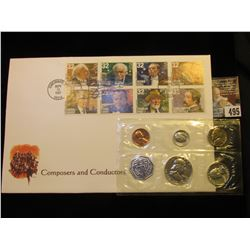 "Sept. 12, 1997 Cincinnati, Oh. Stamped Cover ""Composers and Conductors"" & a 1963 U.S. Silver Proof S"