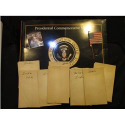 "Empty ""Presidential Commemorative Stamps"" Cover; ""Occupied Japan"" U.S. Flag on stick; nice group of"