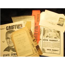 """Poster """"Charles F. Griffin Republican Ticket for State Senator 31st District -Harrison and Monona Co"""