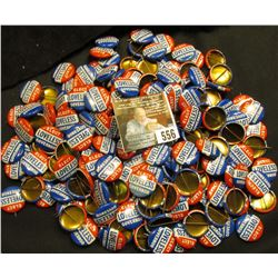 """Large group of 50-100 """"Elect Loveless Governor"""" Political Pin-backs."""