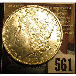 1888 P U.S. Morgan Silver Dollar, Brilliant Uncirculated.