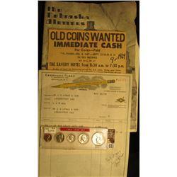 """The Nebraska Alumnus February 1932"", not great condition; 1964 Coin Buyer Advertisement from ""Herca"