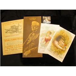 "Folding Advertising Postal Card ""Council Bluffs, Iowa ""Corn if King"" Council Bluffs, Iowa Ottawa Cyl"