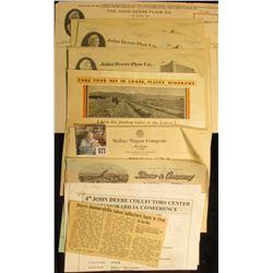A nice selection of John Deere memorabilia dating back to 1910.