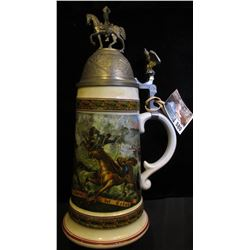 """""""House of Goebel Bavaria W. Germany"""" Beer Stein labeled """"Ungriff franzofifcher Chauffeurs a Cheval"""","""