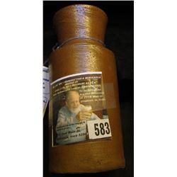 """Unmarked Stoneware Ink Bottle 5 1/8"""" x 2 1/4""""."""