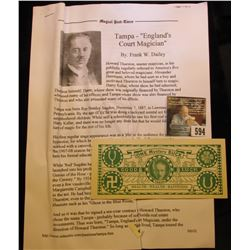 """Rare Magician Depression Scrip """"Tampa's Mystery Bucks Copyright 1933"""" Complete with literature about"""