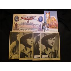 """""""A Refined Novelty Act The Maritimes The Cow Girl and the Bear""""; (4) early Movie Cards of Western Gi"""