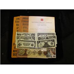 """Pair of Railroad Label Papers; 1905 Invoice """"National Biscuit Company…Cedar Rapids, Iowa""""; (6) diffe"""