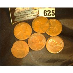 (6) 1932 P & D Lincoln Cents, one has a rare clipped planchet.