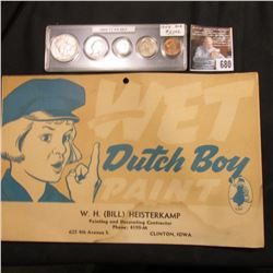 "Hang sign ""WET Dutch Boy Paint W.H. (Bill) Heisterkamp Painting and Decorating Contractor Phone: 419"