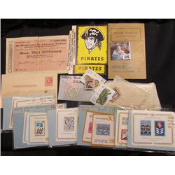 "Group of Stamps; ""Pirates"" Stickers; Stamp Wallet; 5,000,000 Mark Germany Schleswig-Holstein Bank No"
