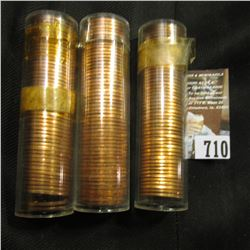 (2) 1960 D Small Date & 1975 D BU Rolls of Lincoln Cents in plastic tubes.
