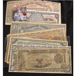 (11) Different Pieces of Old Mexico Currency. Various grades.
