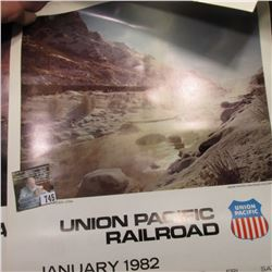 Union Pacific Railroad 1982 & 84 Calendars, excellent condition.
