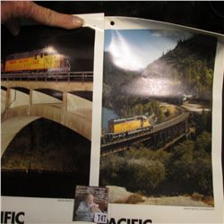 Union Pacific Railroad 1985 & 86 Calendars, excellent condition.