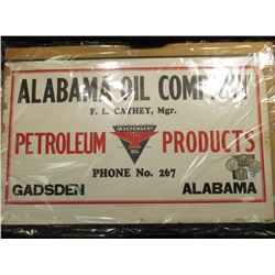 "Sign ""Alabama Oil Company F.L. Cathey, Mgr. Petroleum From Coast to Coast Independent Oil Products P"