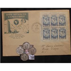 "1934 Feb. 10 National Stamp Exhibition ""Byrd Antarctic Expedition II Imperforate Souvenir Sheet on C"